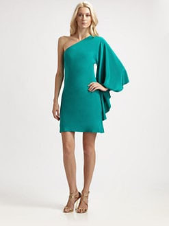 Nicole Miller - Asymmetrical Silk Mini Dress