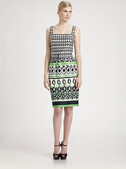 David Meister - Printed Cotton Dress