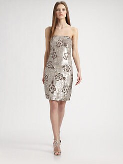 ABS - Sequined Floral Dress