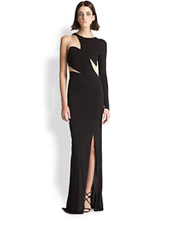 ABS - One-Sleeve Cutout Gown