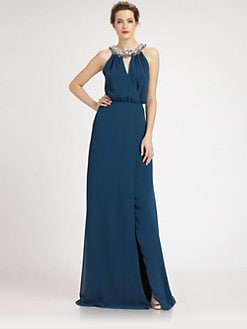 ERIN by Erin Fetherston - Rhinestone-Embellished Chiffon Gown
