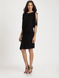 David Meister - Split-Shoulder Dress