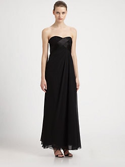 ABS - Strapless Silk Gown