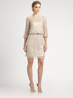 Aidan Mattox - Belted Beaded Dress