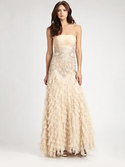 Sue Wong - Beaded Chiffon Gown