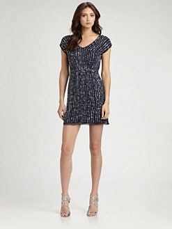 ABS - Sequined Silk Dress