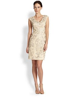Sue Wong - Beaded Floral-Embroidered Dress