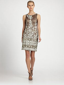 Sue Wong - Embroidered Illusion Dress