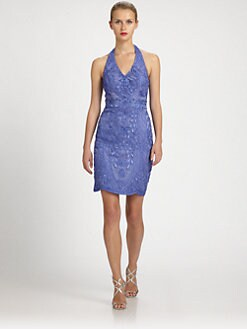 Sue Wong - Embroidered Halter Dress
