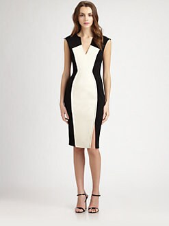 Black Halo - Heston Colorblock Scuba Dress