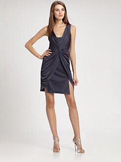 Aidan Mattox - Draped Jersey Dress