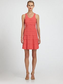 Nicole Miller - Tiered Pleat Dress