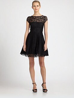 ABS - Cut-Out Back Lace Dress