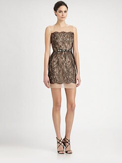 ABS - Bow-Back Lace Dress