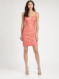 Sue Wong - Sequined Embroidered Dress