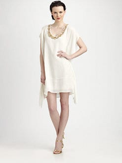 Rachel Roy - Beaded-Neck Kaftan Dress