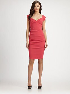 Nicole Miller - Gathered Crepe Dress