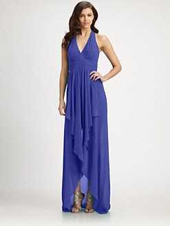 Nicole Miller - Chiffon Halter Gown