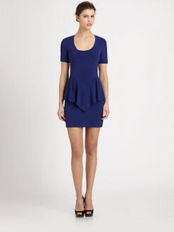 Nicole Miller - Stretch Jersey Peplum Dress
