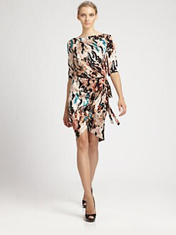 Rachel Roy - Landscape Printed Wrap Dress