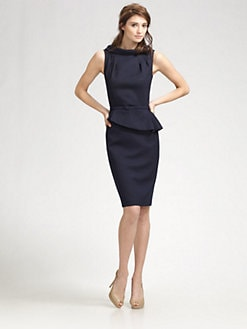 David Meister - Pleated Peplum Dress