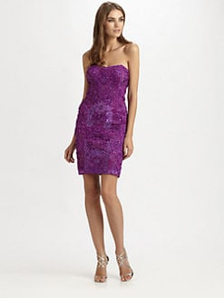 Sue Wong - Embroidered Strapless Dress