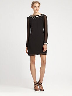 ABS - Scalloped Pearl Cocktail Dress