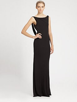 ABS - Draped Open Back Gown