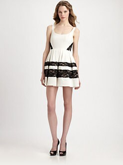ABS - Lace-Paneled Dress