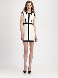 ABS - Graphic Colorblock Dress