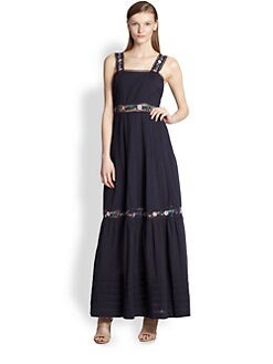 Candela - Embroidered Maxi Dress