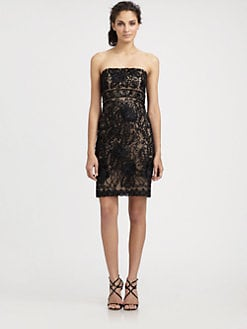 Sue Wong - Strapless Embroidered Dress