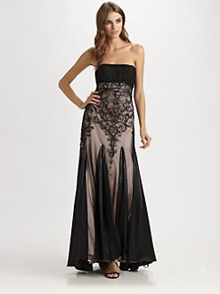Sue Wong - Strapless Beaded Gown
