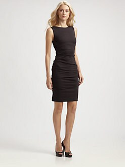 Nicole Miller - Tucked Ponte Dress
