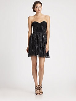 ERIN by Erin Fetherston - Strapless Metallic Lace Dress