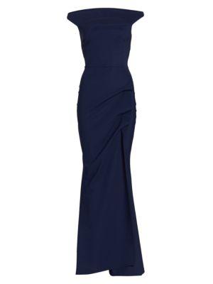LA PETITE ROBE DI CHIARA BONI Melania Off-The-Shoulder Gown