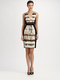 Rachel Roy - Paneled Tie Dye Dress