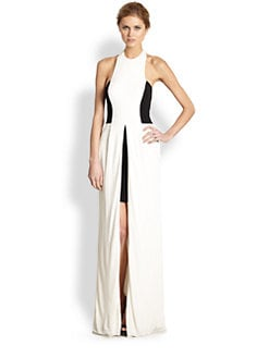 ABS - Two-Tone Halter Gown