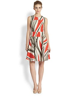 Rachel Roy - Urban Flames Silk Dress