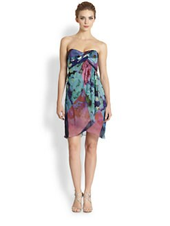 Nicole Miller - Twist-Front Secret Garden Dress