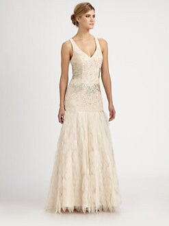 Sue Wong - Beaded Petal Gown