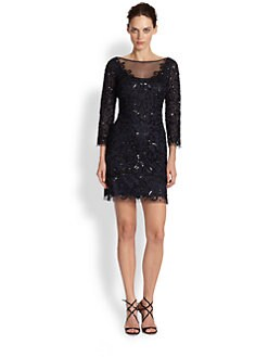 Aidan Mattox - Beaded Illusion Dress