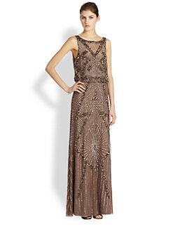 Aidan Mattox - Beaded Chiffon Gown