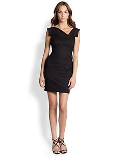 Black Halo - Mini Lace Jackie O. Dress