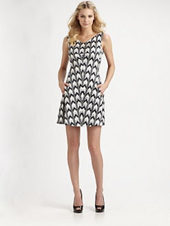 Rachel Roy - Printed Cotton/Silk Dress