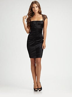 Nicole Miller - Stretch Satin Dress