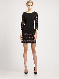ABS - Lace-Trimmed Dress