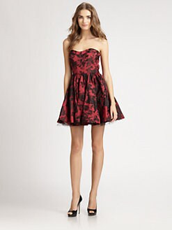 ABS - Strapless Floral Dress