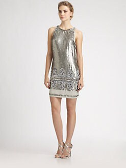 Aidan Mattox - Beaded Sequined Dress