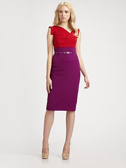 Black Halo - Jackie O. Colorblock Dress